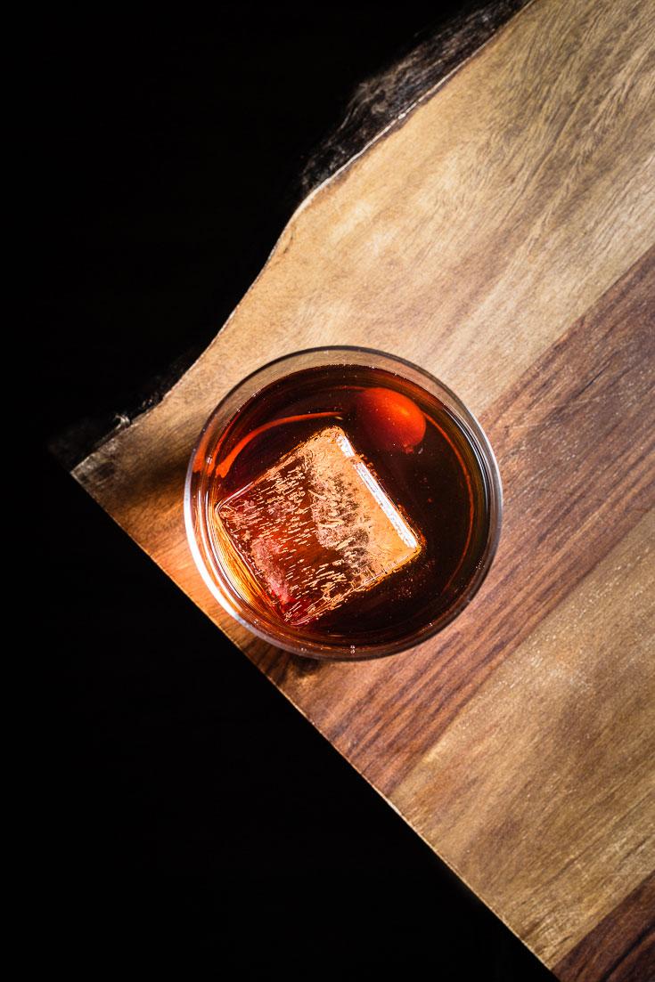1888 Rum Manhattan overhead