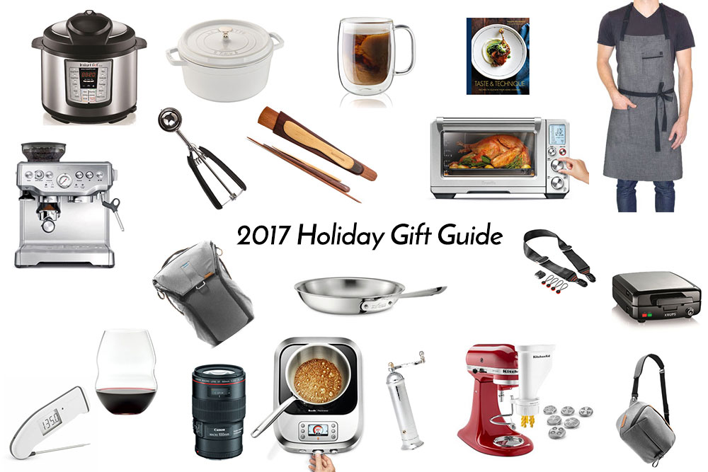 2017 holiday gift guide for those who love cooking, food and photography.