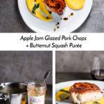 Apple Jam Glazed Pork Chops