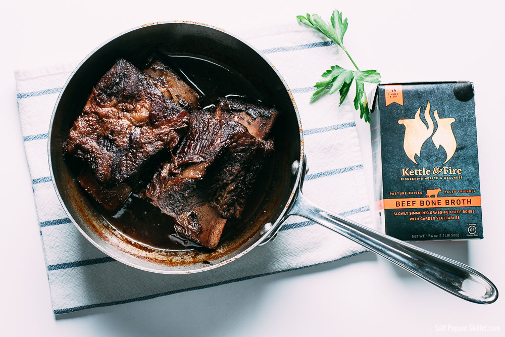 Red Wine and Bone Broth Braised Short Ribs