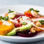 Citrus Beet and Avocado Salad close up