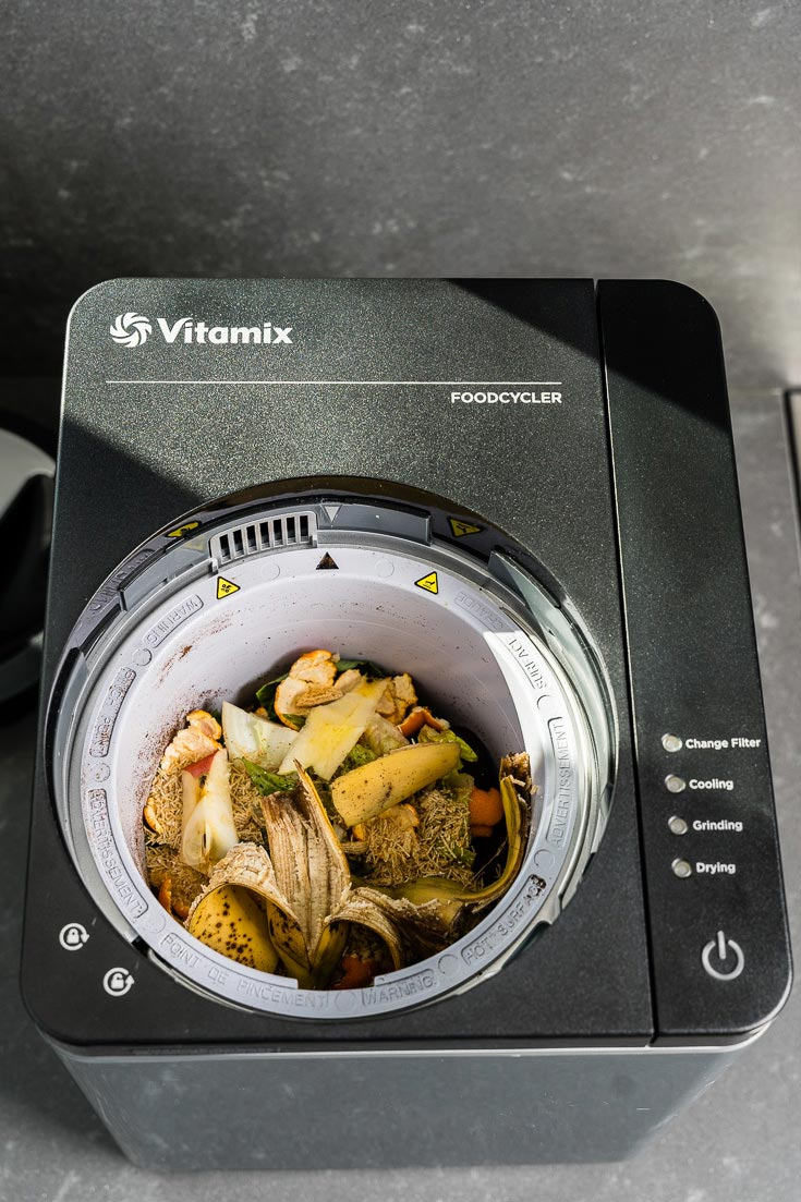 food waste in vitamix food cycler