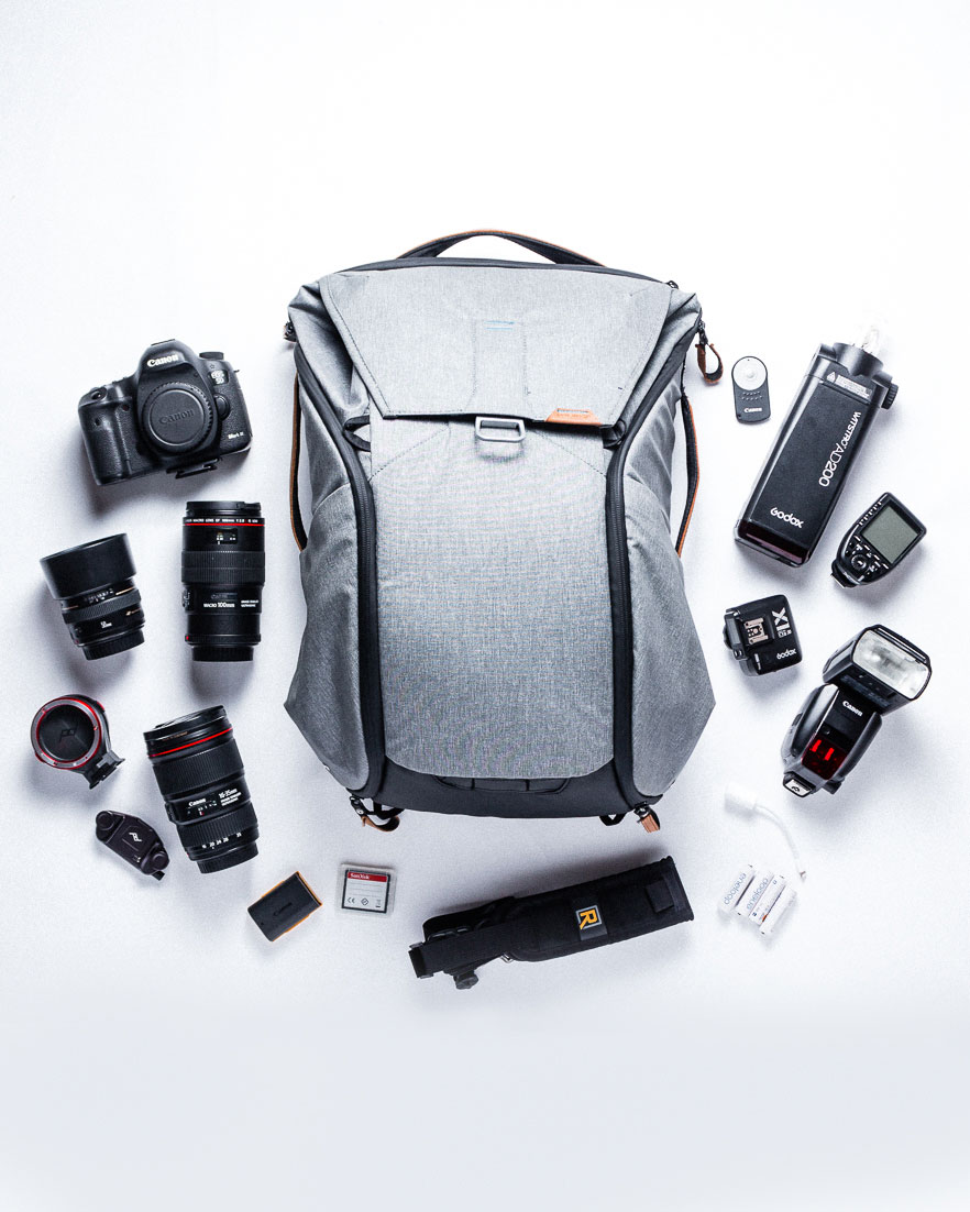 What's in my food photography bag; including equipment, camera, lenses, lighting and accessories. #foodphotography