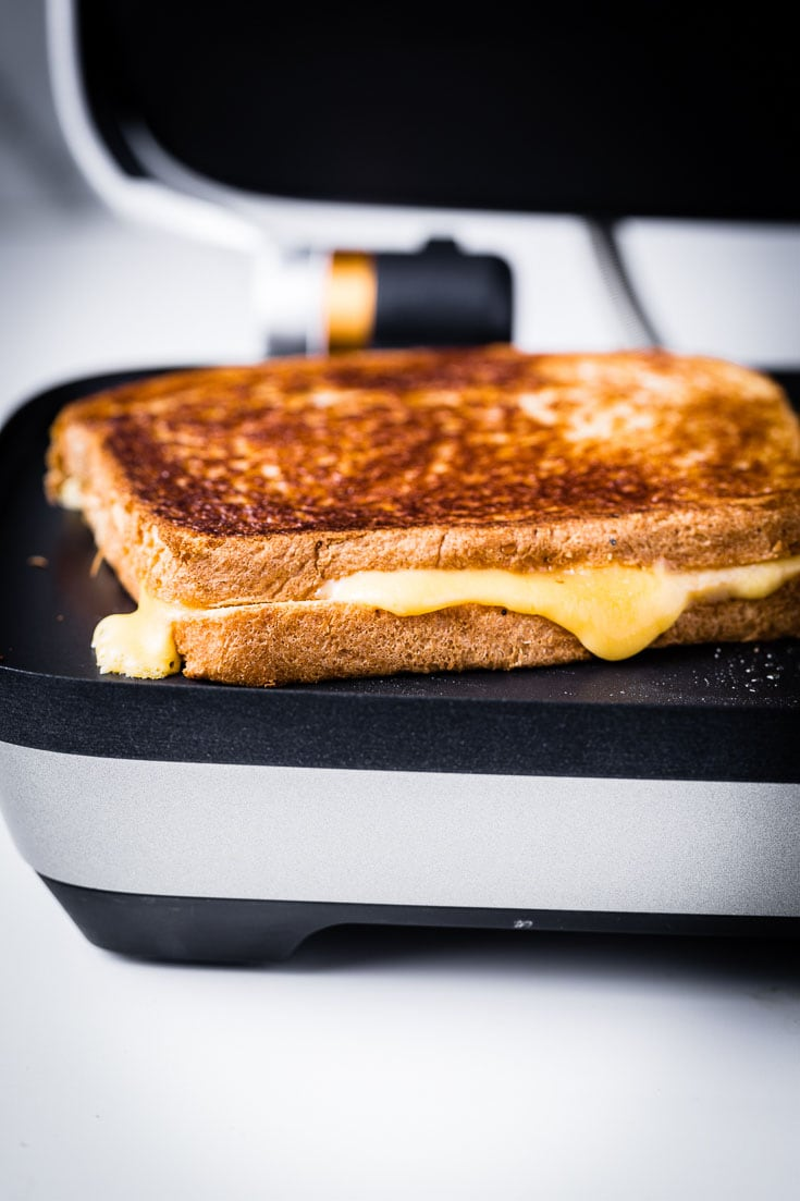 Grilled Cheese in Breville Perfect Press Open