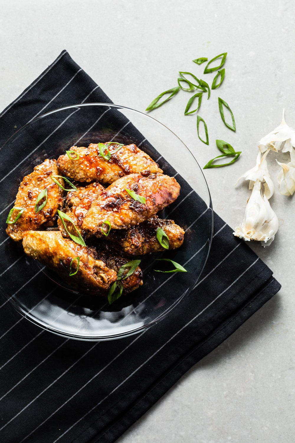 Air Fried Honey Garlic Chicken Wings Recipe