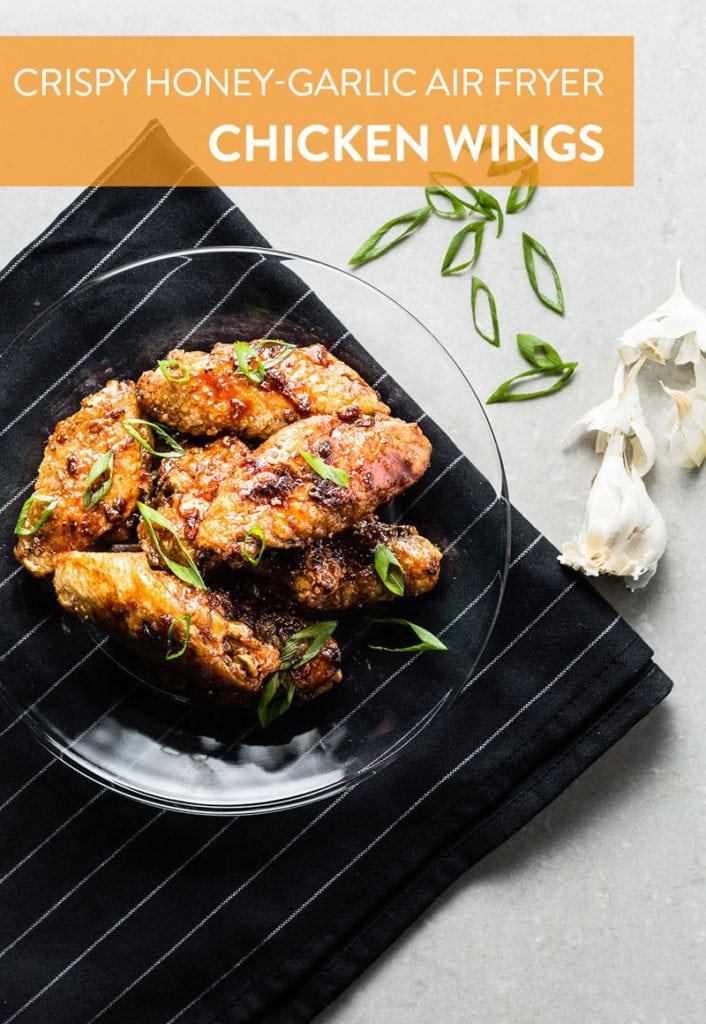 Honey Garlic Air Fryer Chicken Wings