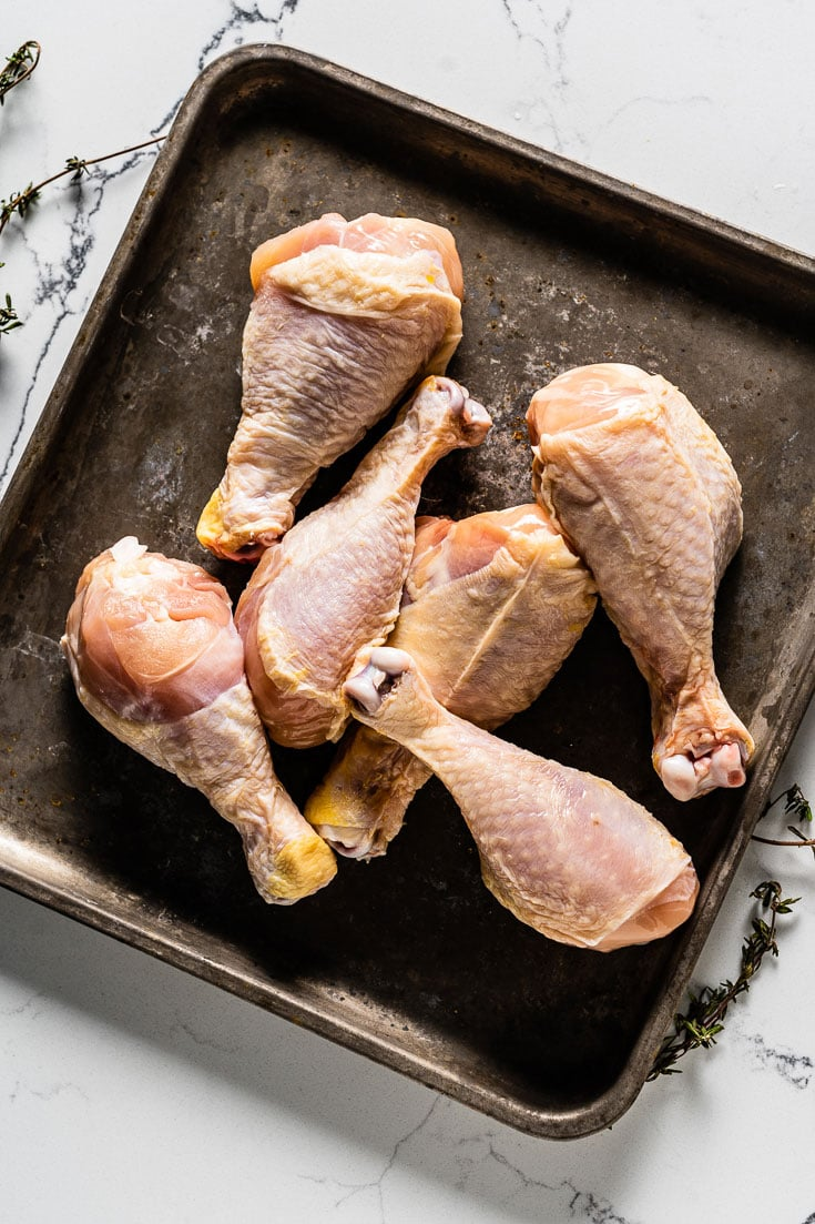 Perdue Farms Chicken drumsticks on sheet pan