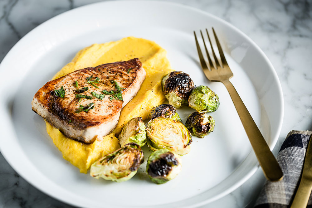 Swordfish and Golden-beet Parsnip Puree