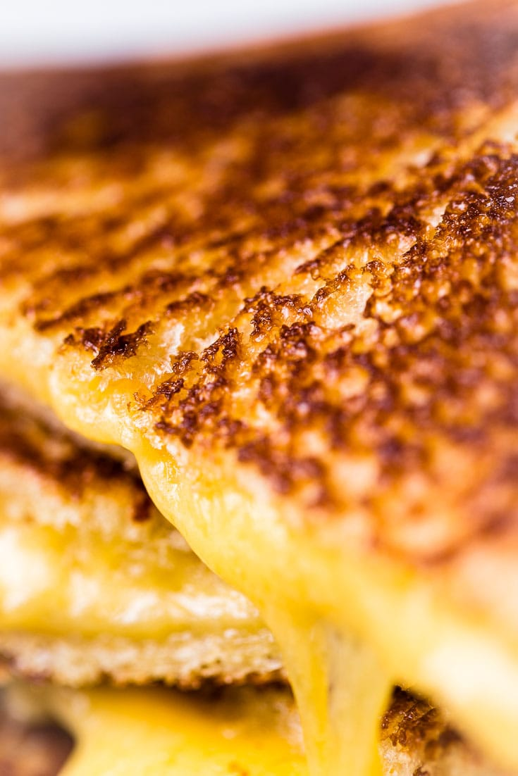 The Perfect Grilled Cheese macro close up