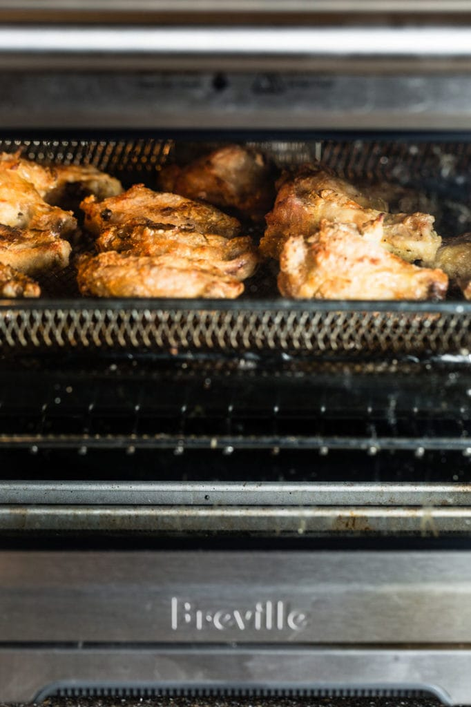 air fried chicken wings in breville smart oven air 5 vertical