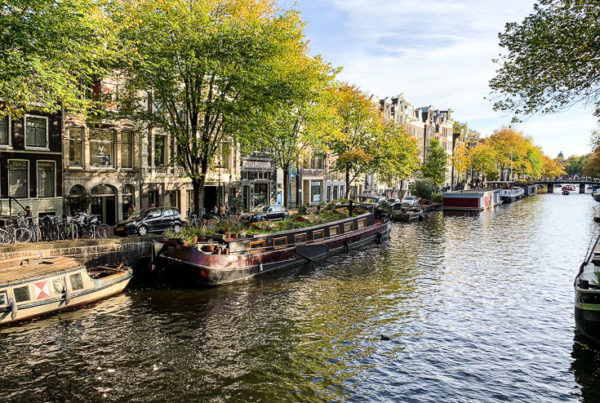 amsterdam canal in fall