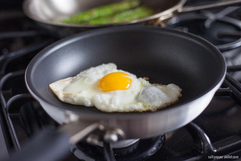 Asparagus + Fried Egg + Parmesan - Salt Pepper Skillet