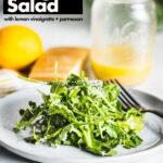 baby arugula salad with lemon vinaigrette