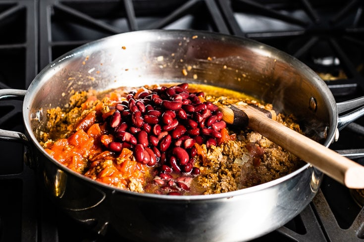 beans in vegetarian chili