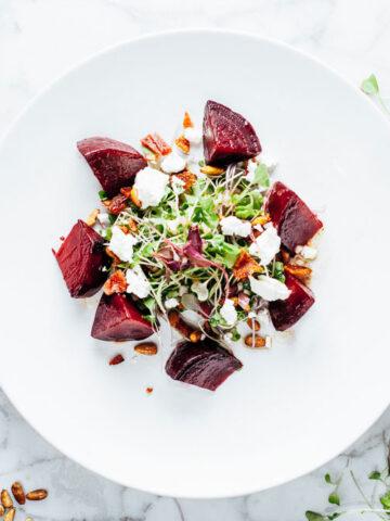 Warm Beet Salad | SaltPepperSkillet.com
