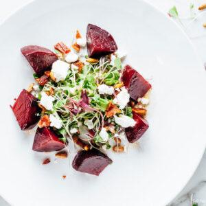 Warm Beet Salad   SaltPepperSkillet.com