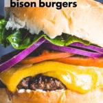 Juicy Bison Burgers