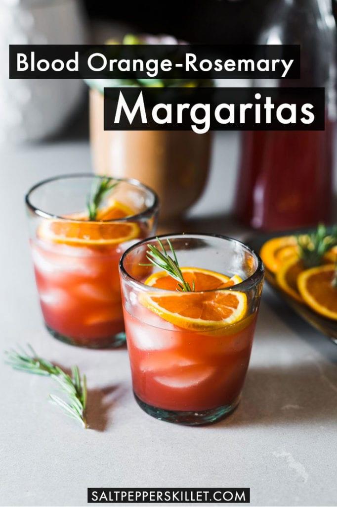 Blood Orange-Rosemary Margaritas