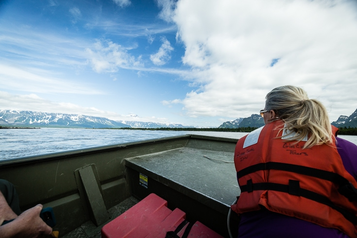 boating on the copper river