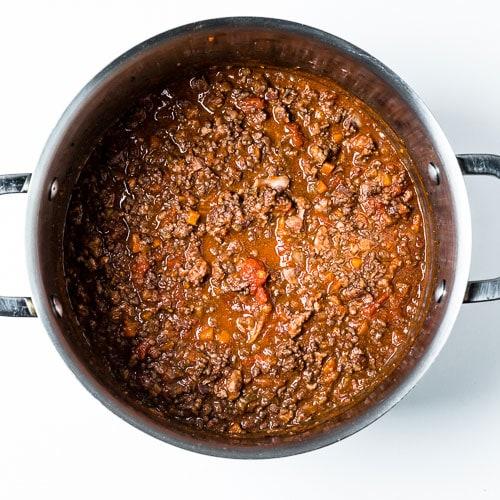 Bolognese Sauce Process 4