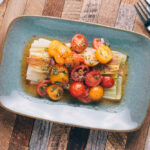 Braised Leeks with Tomato Vinaigrette | SaltPepperSkillet.com
