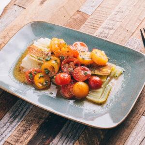 Braised Leeks with Tomato Vinaigrette   SaltPepperSkillet.com