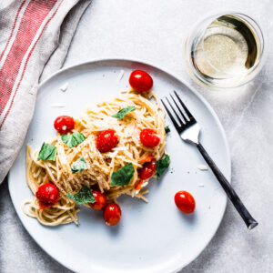 Burst Tomato Pasta with White Wine