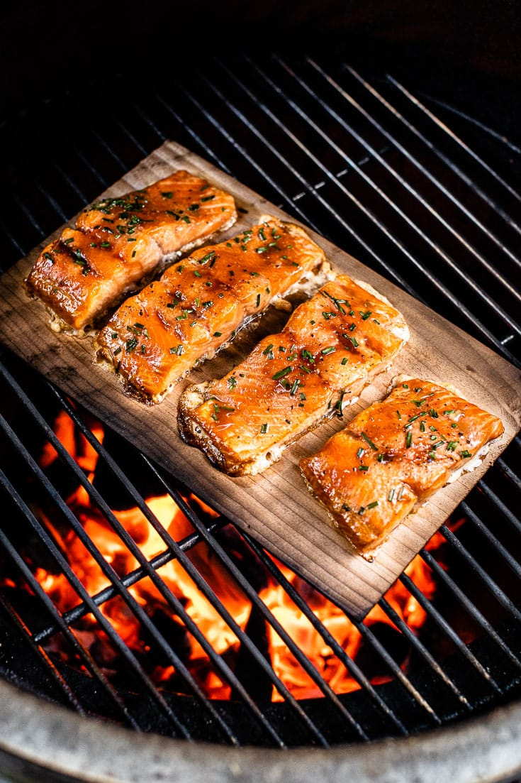 cedar plank salmon on grill vertical 2