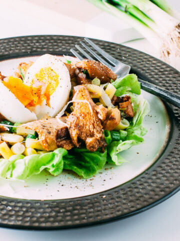 Roasted Chanterelle + Yellow Wax Bean Salad | SaltPepperSkillet.com