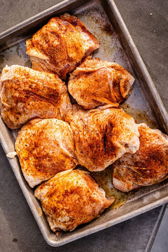 chicken thighs with dry rub for grilling