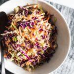 coleslaw in bowl horizontal
