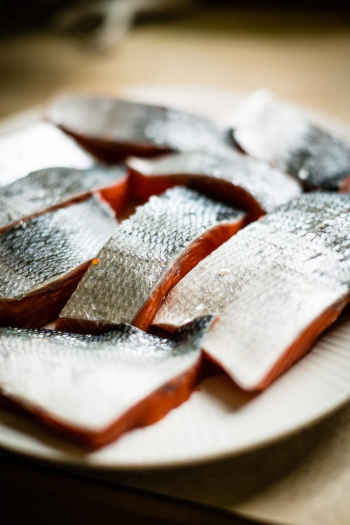 copper river sockeye salmon filets
