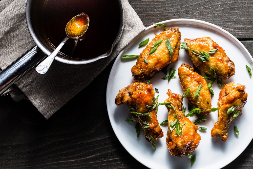 Crispy Air Fryer Chicken Wings With A Honey Sriracha Sauce Recipe
