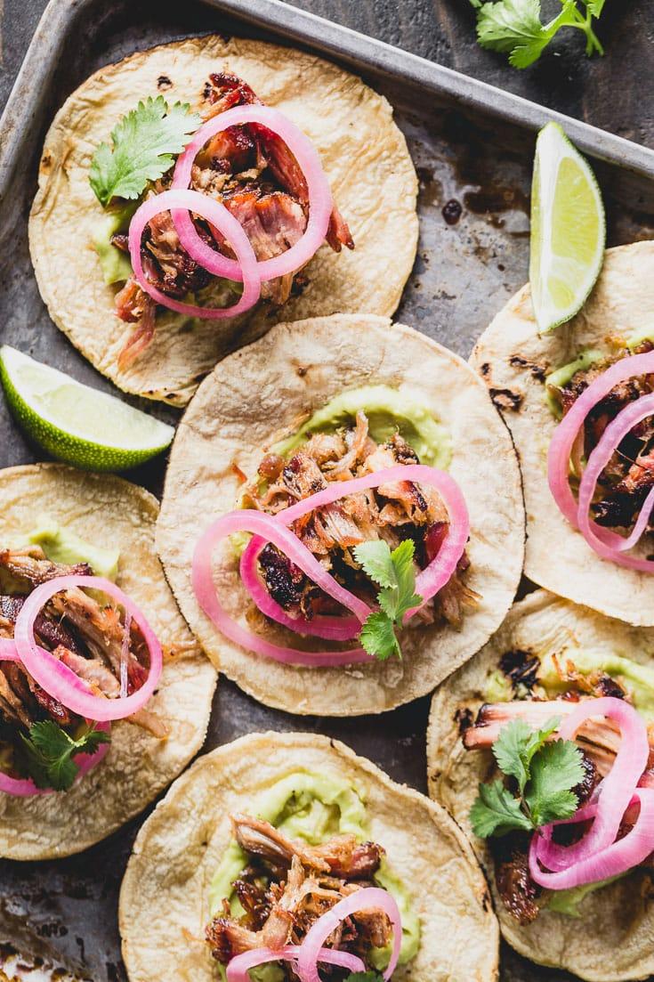 crispy carnitas tacos overhead 2