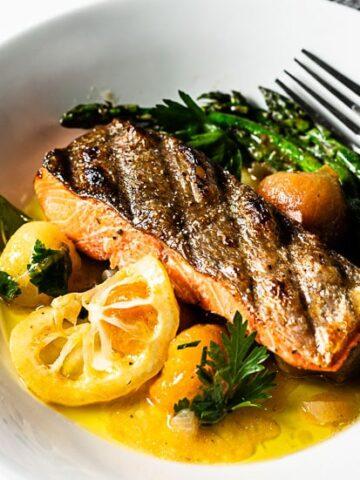 crispy skin grilled salmon recipe