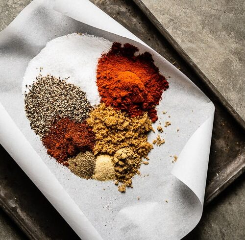 dry rub for chicken ingredients on sheet pan