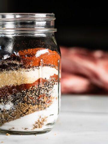 dry rub for ribs in mason jar