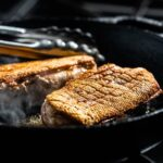 duck breasts in skillet