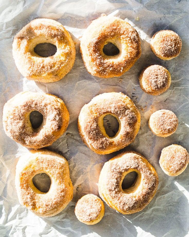 easiest air fryer donuts overhead