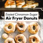 easiest air fryer donuts pin 1