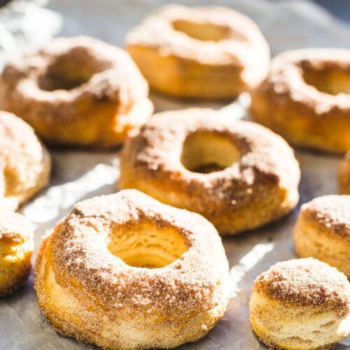 easiest air fryer donuts side view