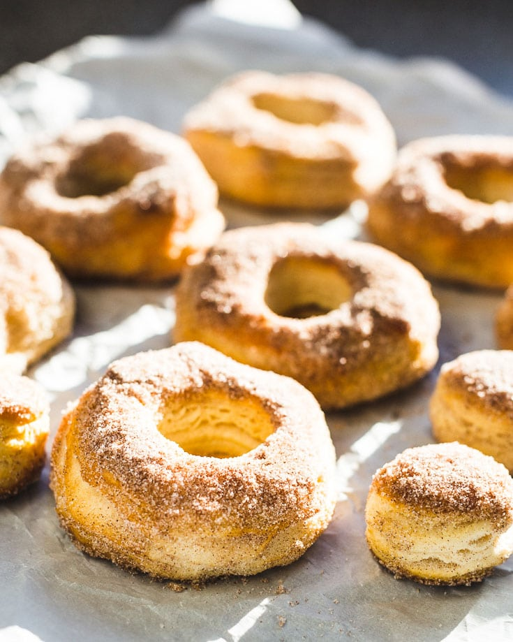 easiest air fryer donuts side view