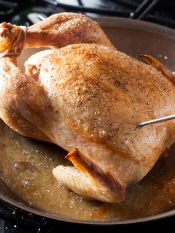 Easy Skillet Roasted Chicken | SaltPepperskillet.com