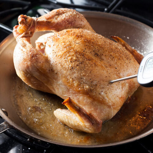Easy Skillet Roasted Chicken | SaltPepperskillet.com