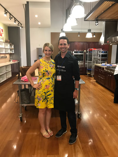 Justin with Sally from Sally's Baking Addiction