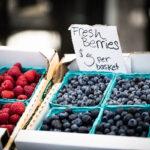 farmers market fresh berries horizontal