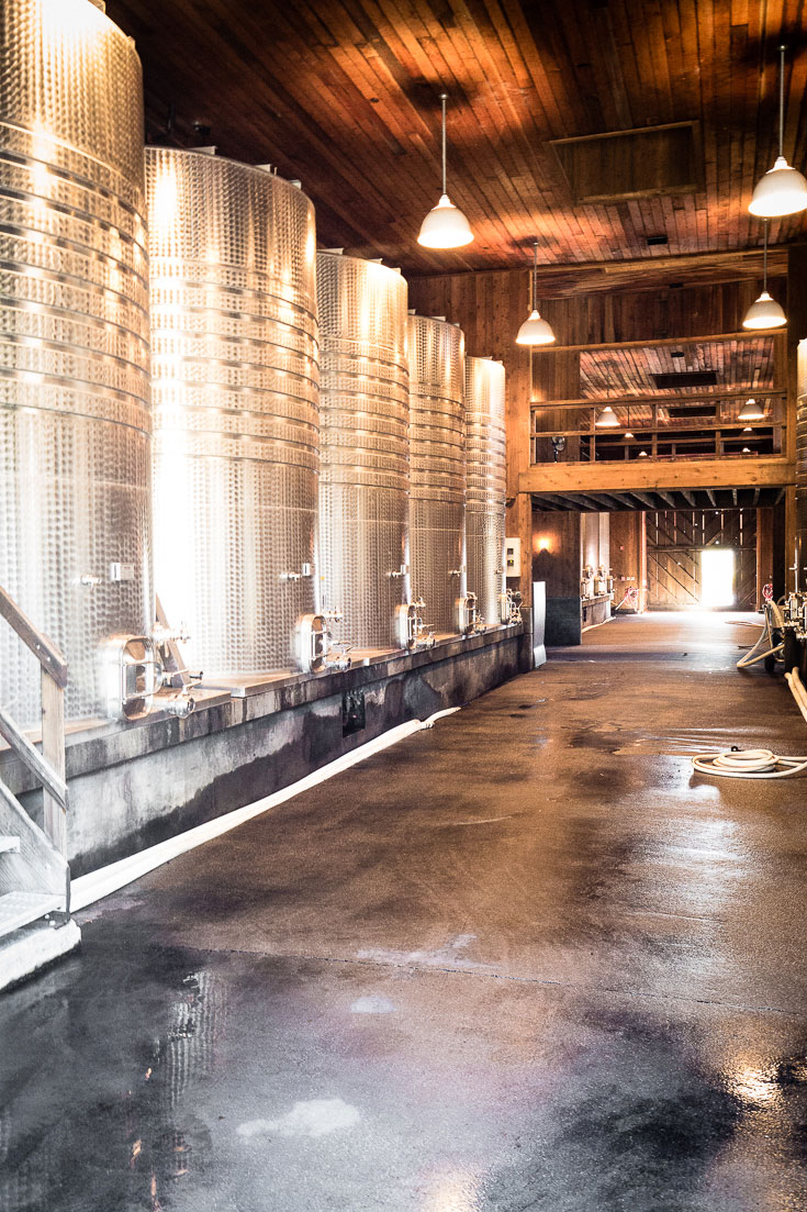 frog's leap winery aging room