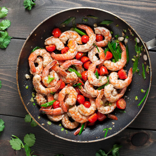 Garlic Butter Shrimp | SaltPepperSkillet.com