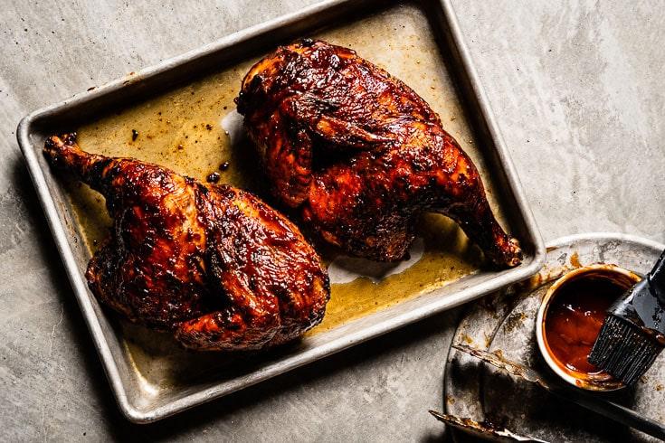 grilled bbq chicken horizontal