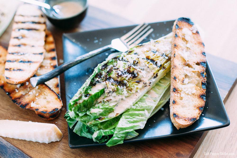 Grilled Caesar Salad | SaltPepperSkillet.com